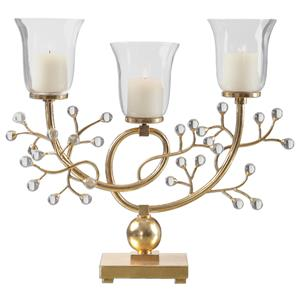 Uttermost Accessories Bede Metallic Gold Candelabra