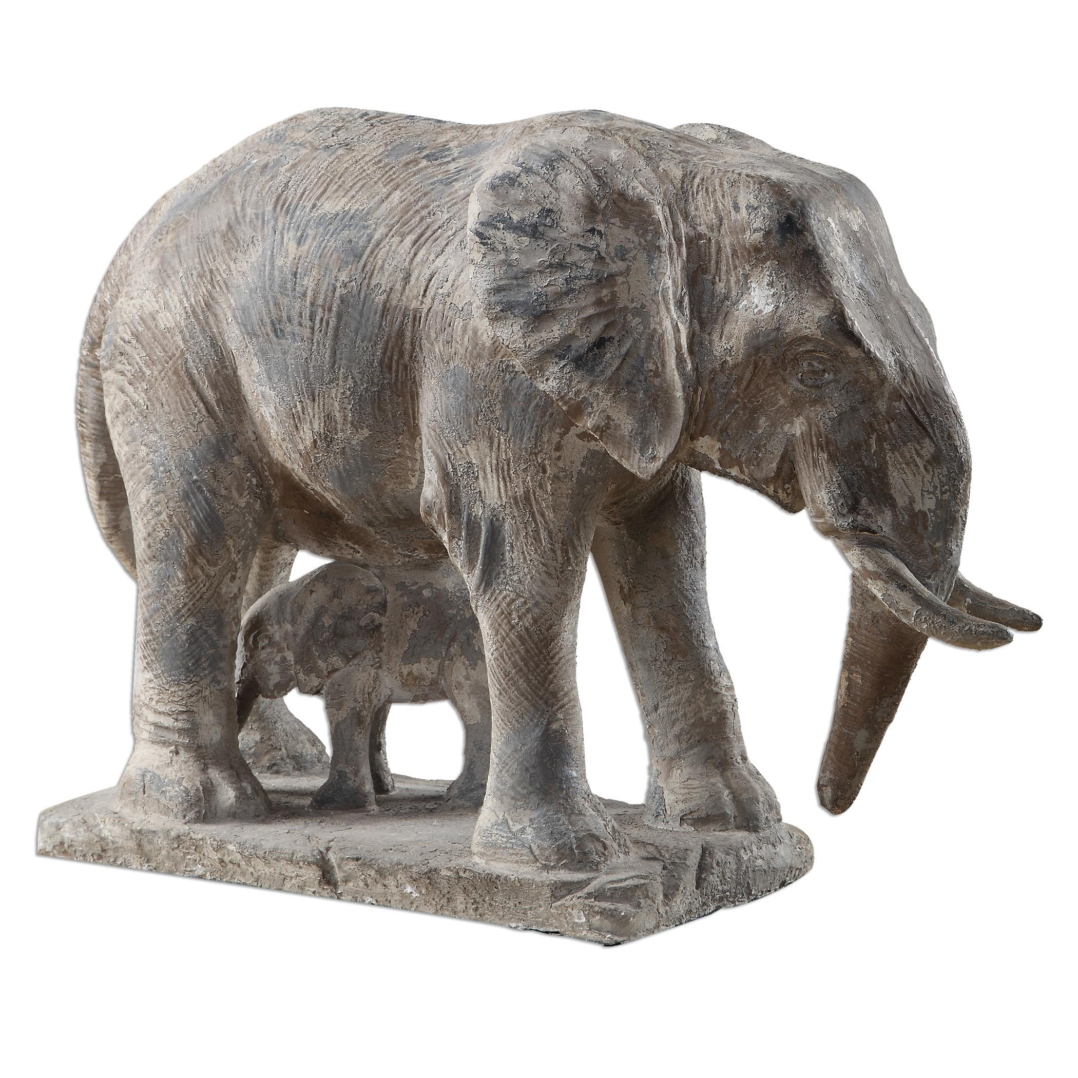 Uttermost Accessories Standing Guard Elephant Statue - Item Number: 20025