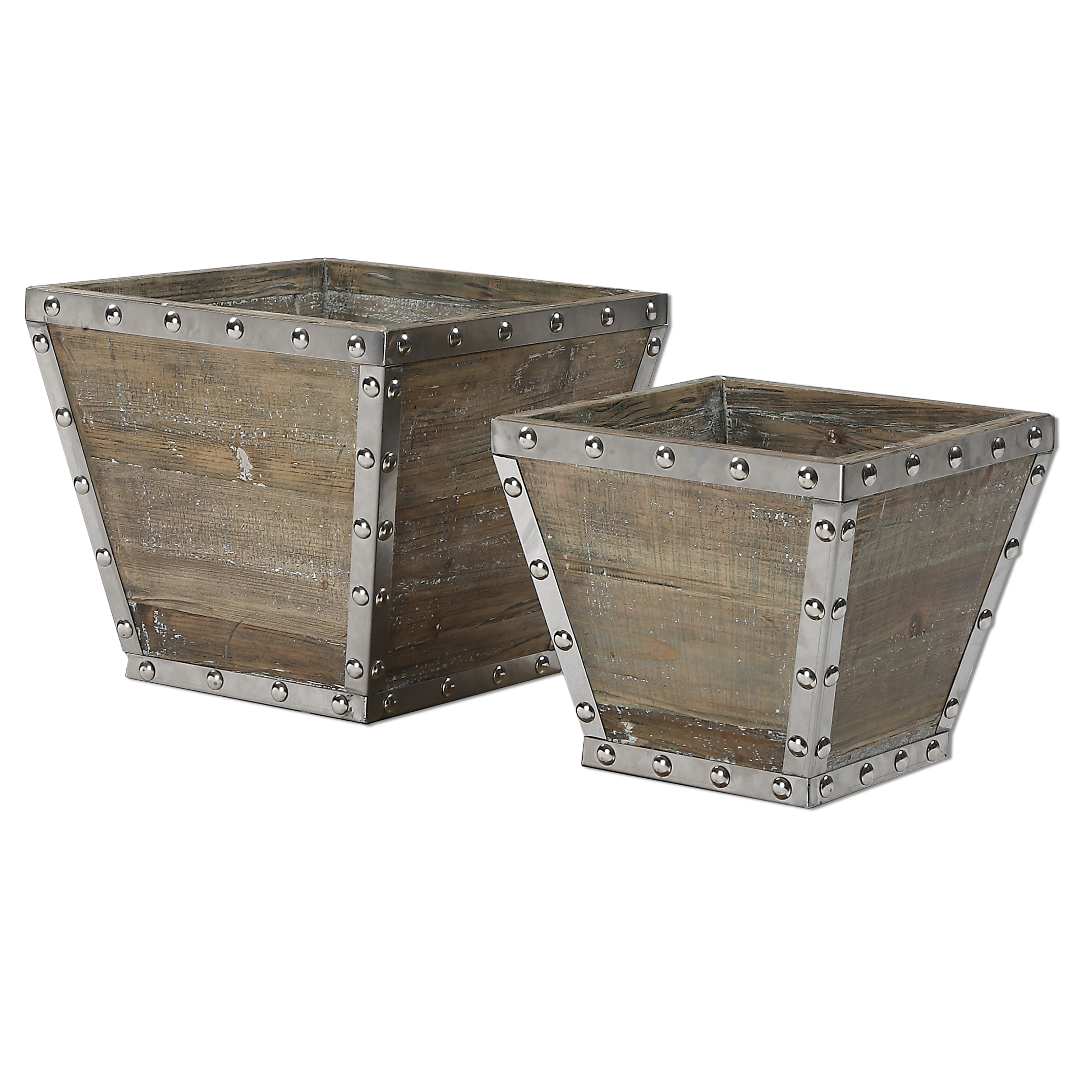Uttermost Accessories Birtle Wood Containers S/2 - Item Number: 20027