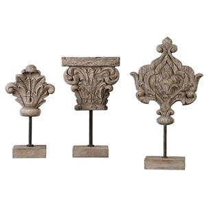 Uttermost Accessories Marta Wood Sculptures, S/3