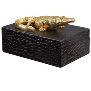 Gold Crocodile Box