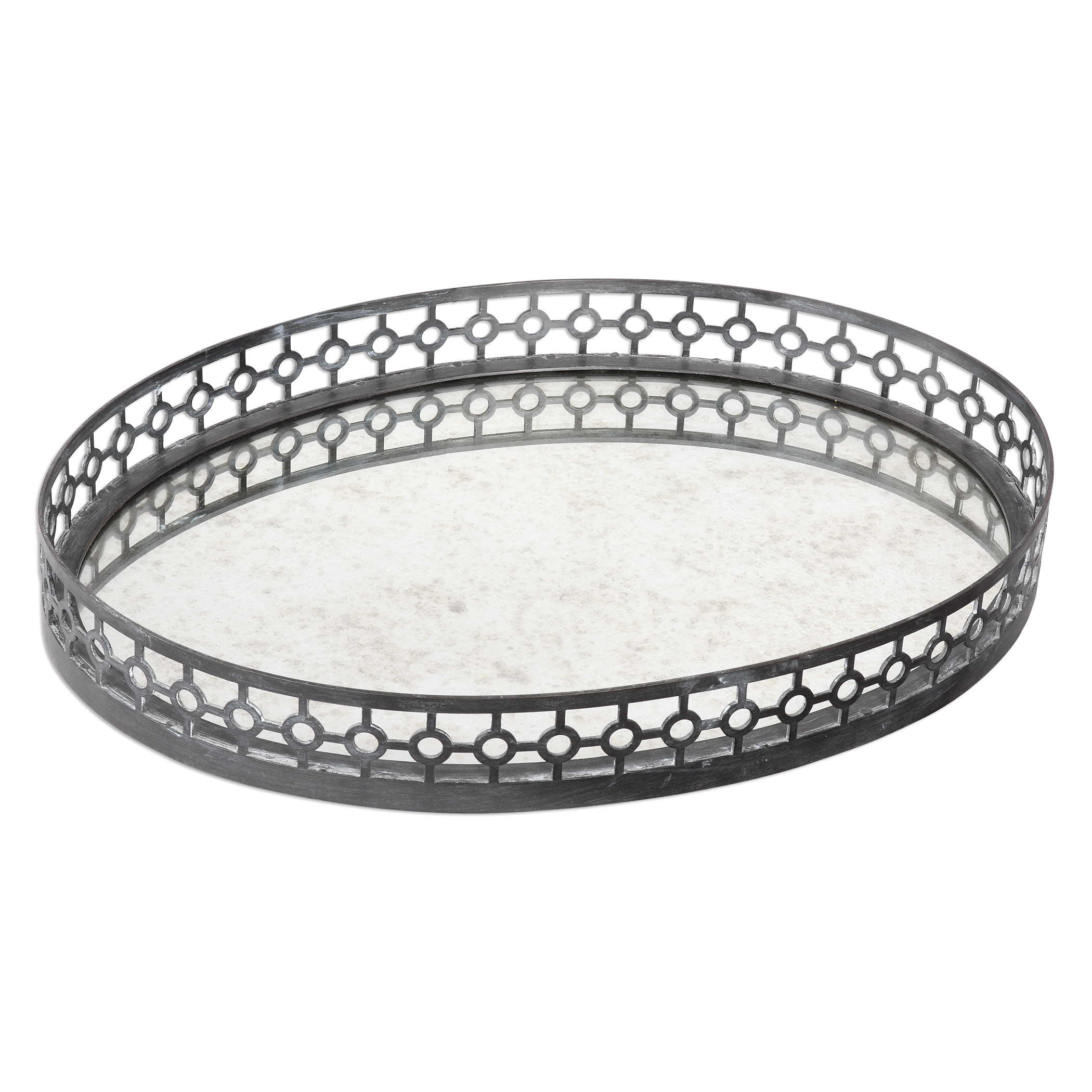 Uttermost Accessories Alessandra Oxidized Gray Tray - Item Number: 20064