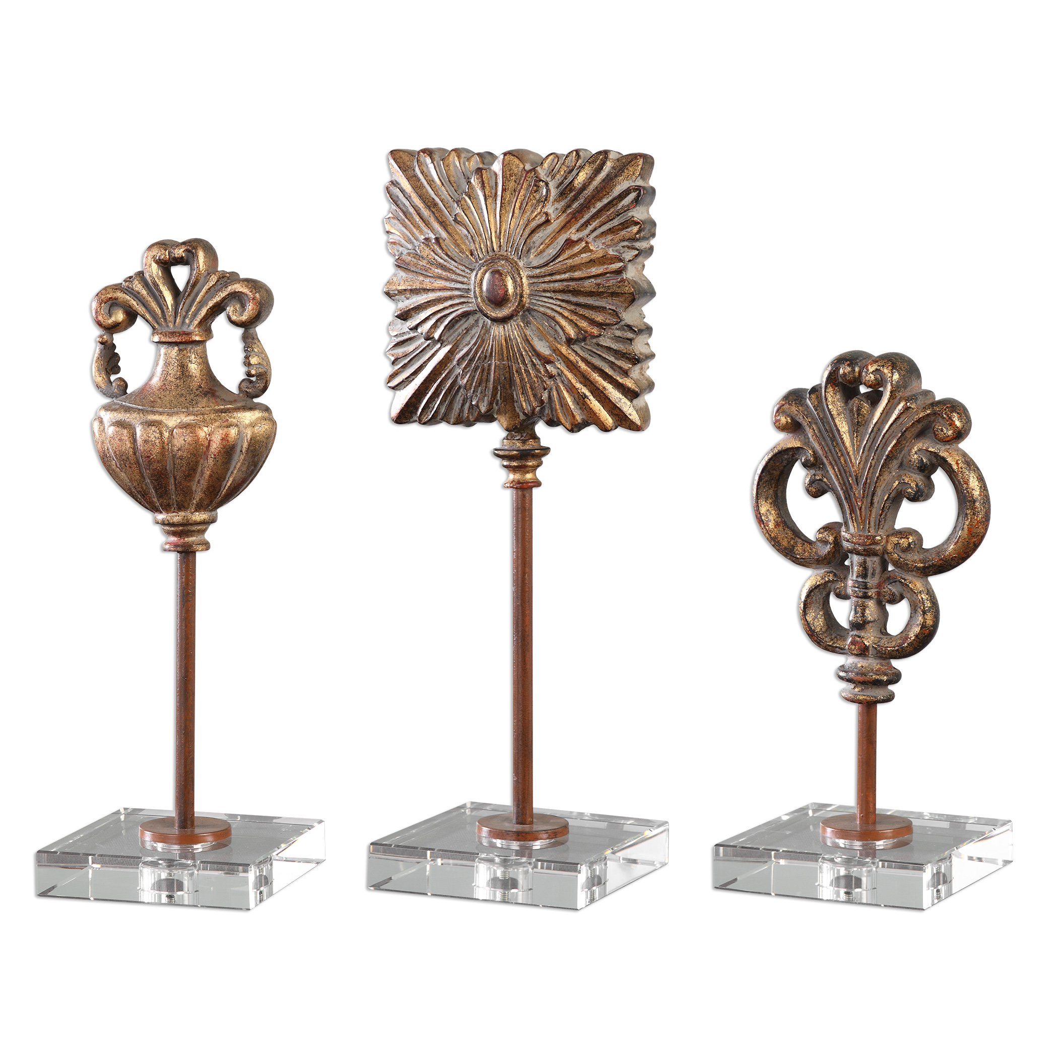 Uttermost Accessories Cesare Gold Accessories, S/3 - Item Number: 20067