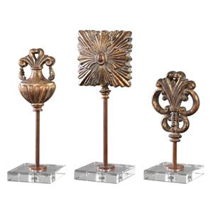 Uttermost Accessories Cesare Gold Accessories, S/3