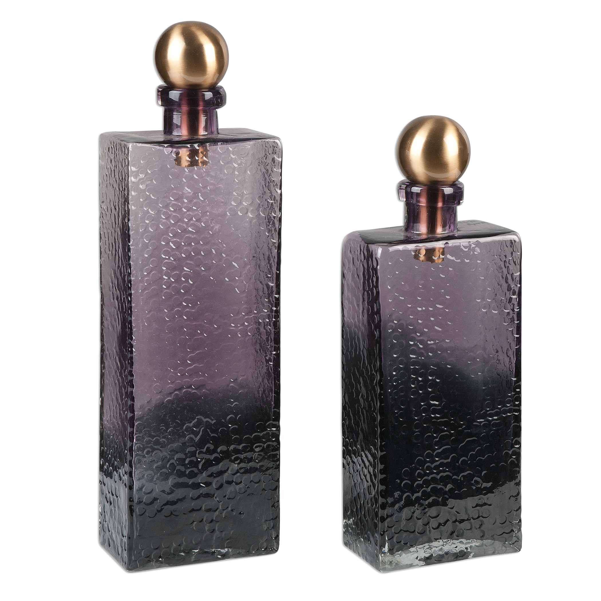 Uttermost Accessories Benedetto Glass Bottles, S/2 - Item Number: 20075