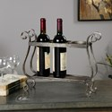 Uttermost Accessories Tiberio Rustic Wine Holder