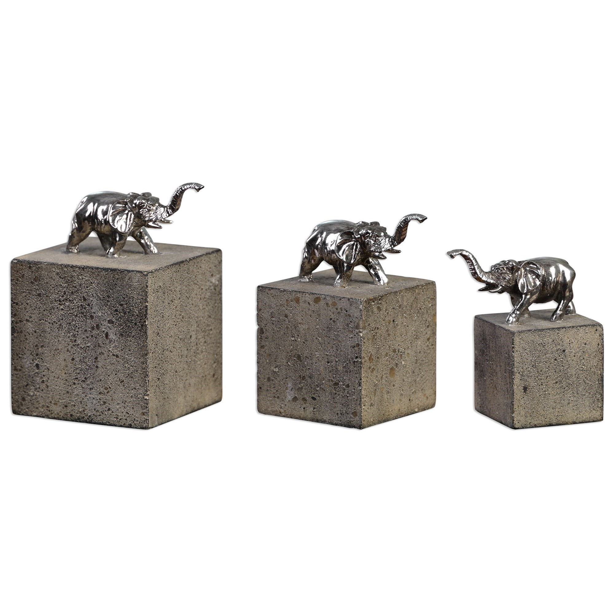 Uttermost Accessories Tiberia Elephant Sculpture S/3 - Item Number: 20096