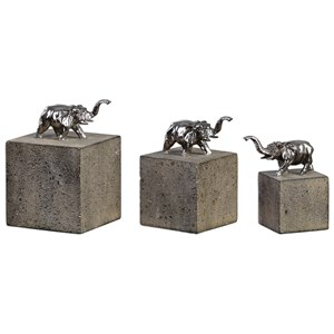 Tiberia Elephant Sculpture S/3