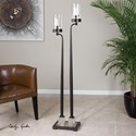 Uttermost Accessories Rondure Dark Bronze Floor Candleholder