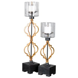 Uttermost Accessories Gilberto Moroccan Candleholders S/2