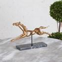 Uttermost Accessories Gallop Gold Horse Sculpture
