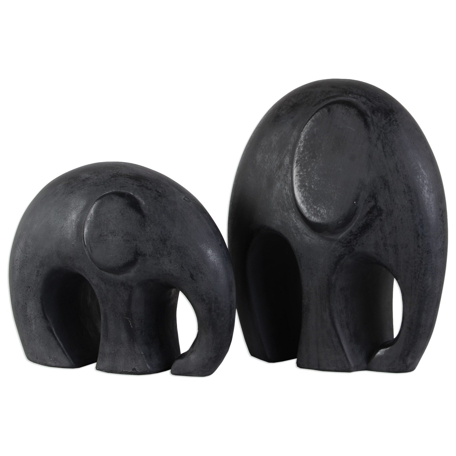 Uttermost Accessories  Giwa Elephant Statue (Set of 2) - Item Number: 20103