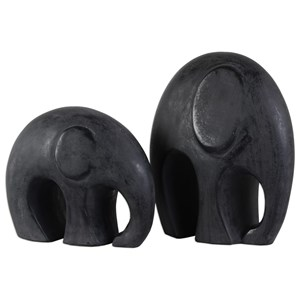 Uttermost Accessories  Giwa Elephant Statue (Set of 2)