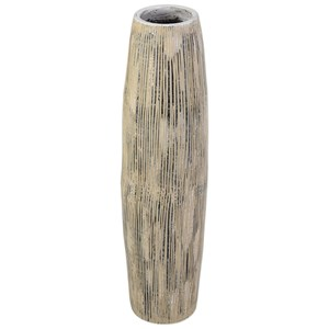 Uttermost Accessories  Antonio Aged Ivory Floor Vase