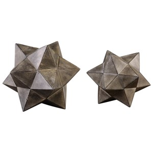 Uttermost Accessories Geometric Stars Concrete Sculpture Set/2