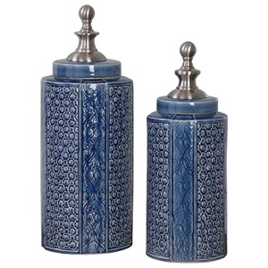 Uttermost Accessories Pero Urns (Set of 2)