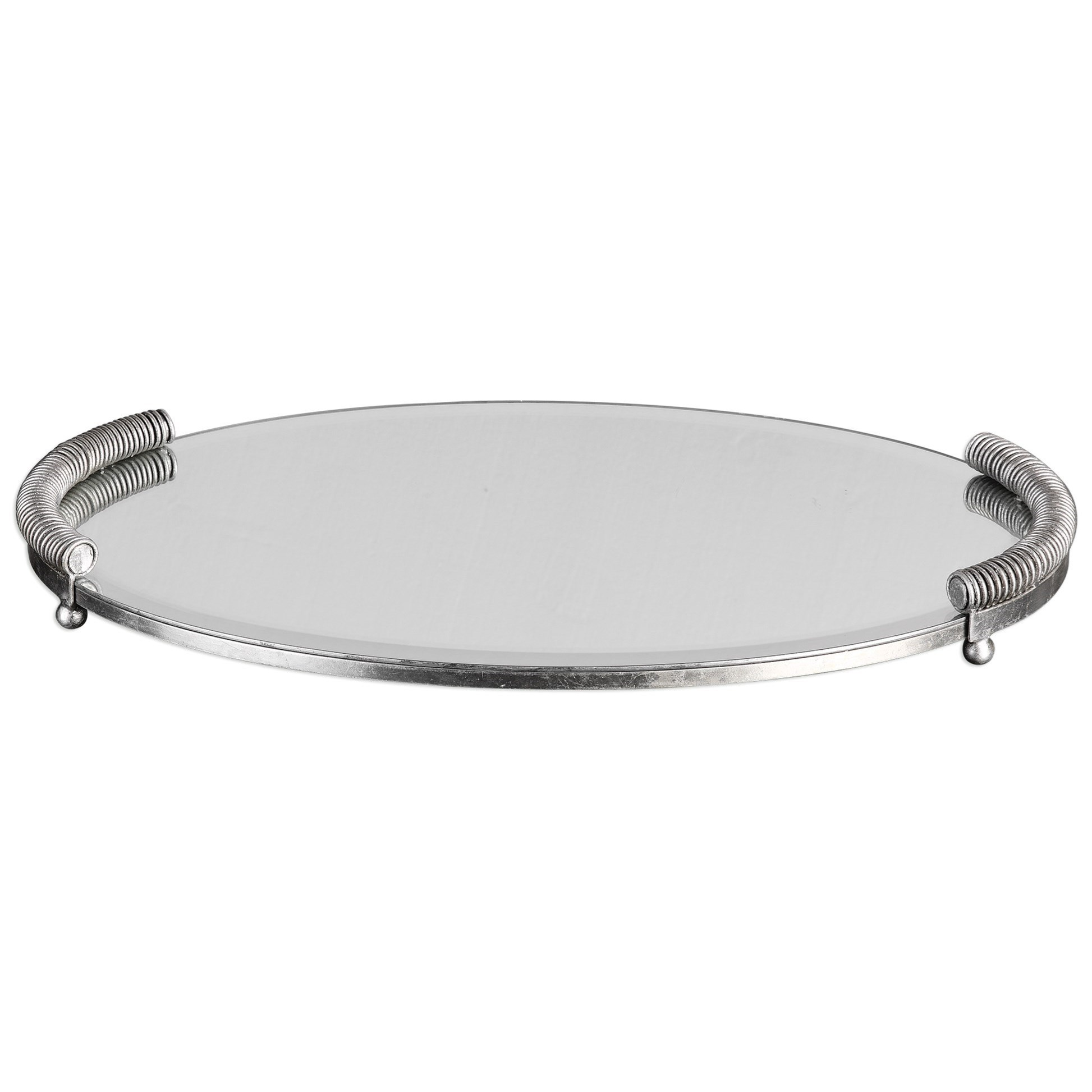 Uttermost Accessories  Egidio Mirrored Oval Tray - Item Number: 20116