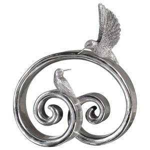 Uttermost Accessories  Hummingbirds Bright Silver Sculpture