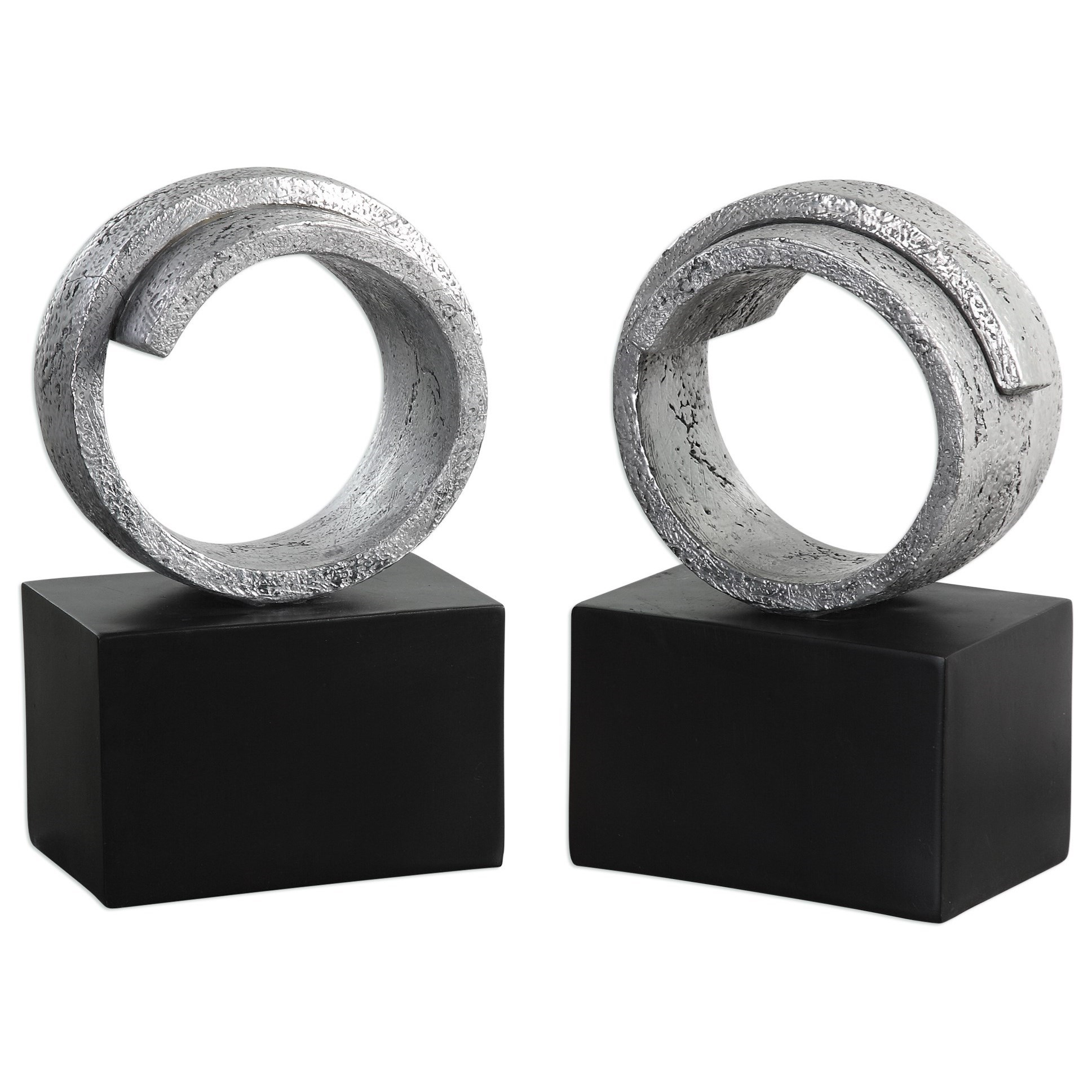Uttermost Accessories Twist Bookends (Set of 2) - Item Number: 20140