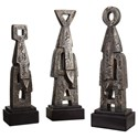 Uttermost Accessories Geometric Totem (Set of 3) - Item Number: 20141