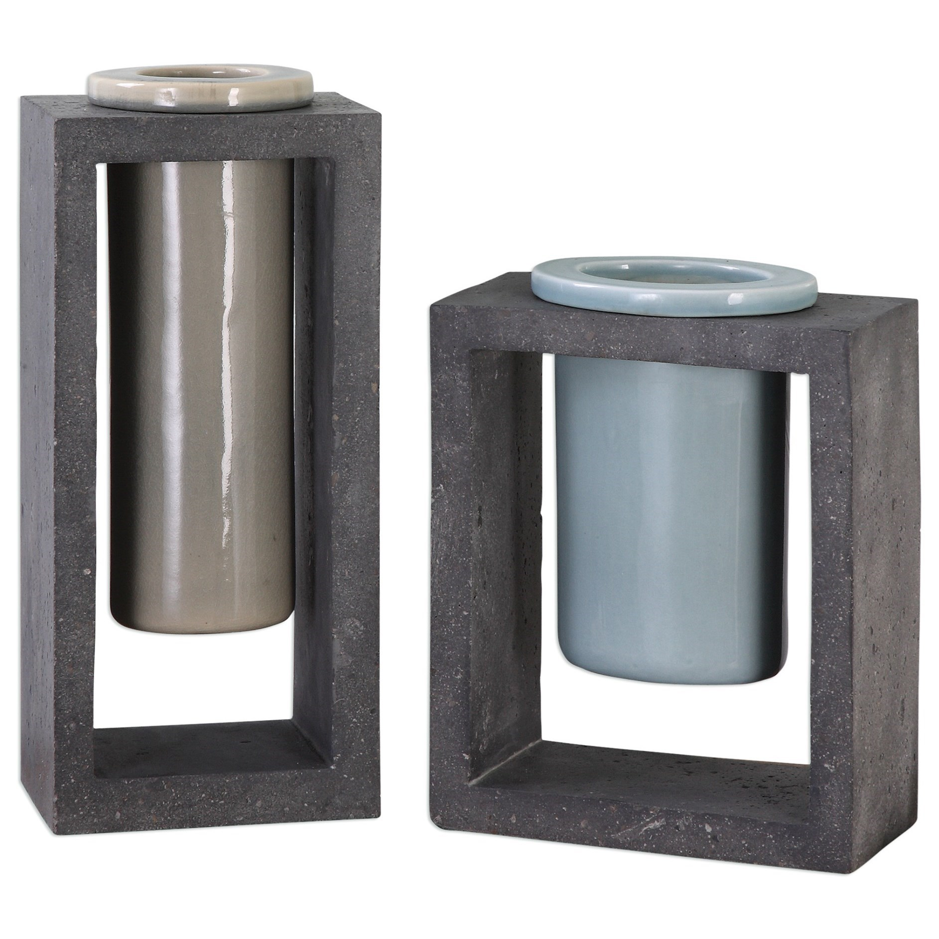 Uttermost Accessories Pio Vases (Set of 2) - Item Number: 20144