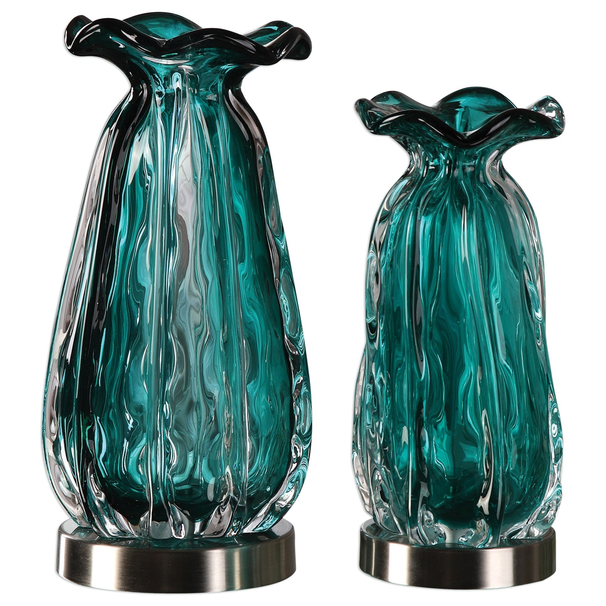 Uttermost Accessories Gabriela Vases (Set of 2) - Hudsonu0026#39;s Furniture - Accessories - Vases