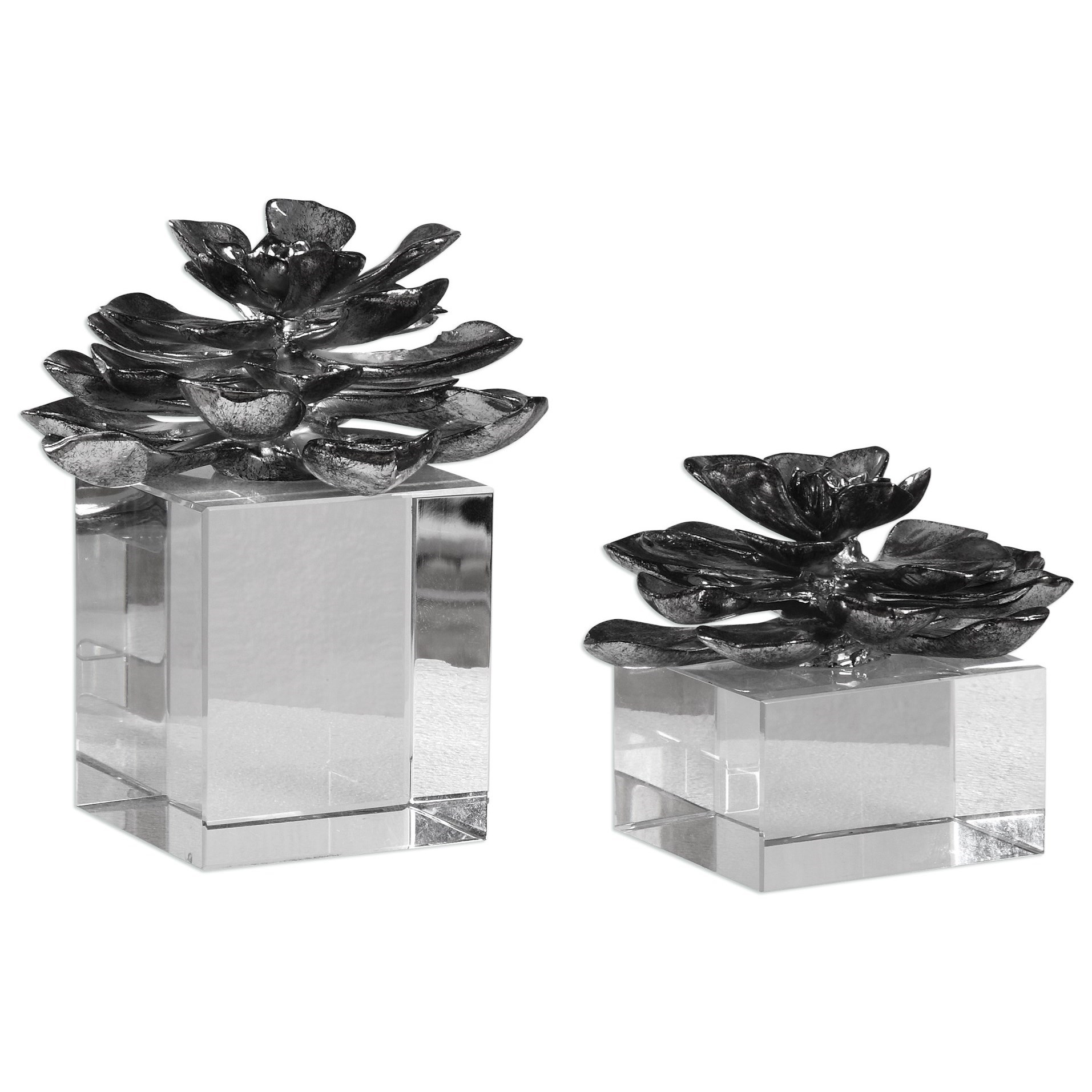 Uttermost Accessories Indian Lotus (Set of 2) - Item Number: 20158