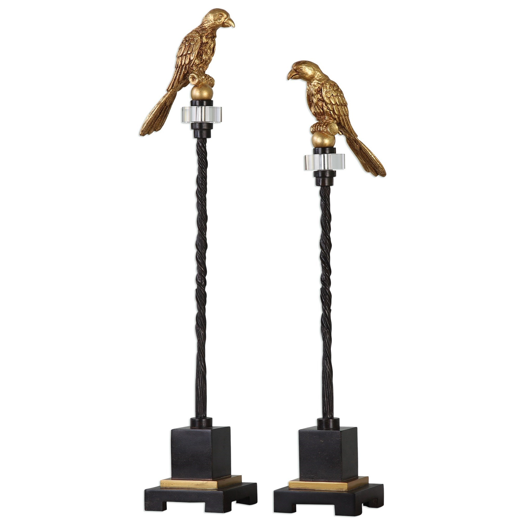Uttermost Accessories Perched Finials (Set of 2) - Item Number: 20163