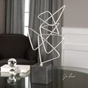 Uttermost Accessories  Ercole Twisted Silver Sculpture