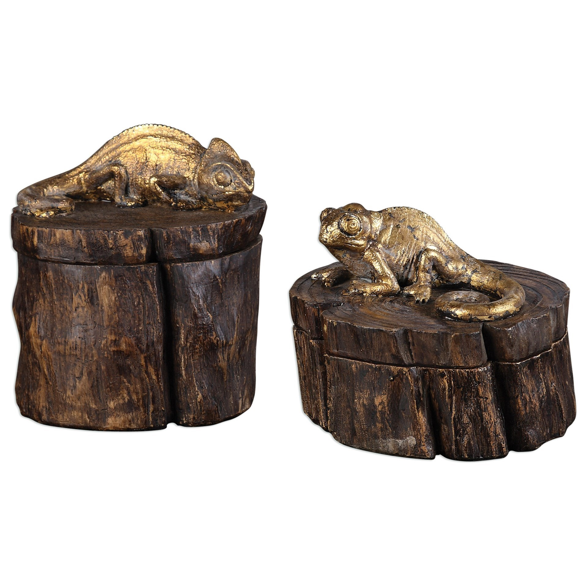Uttermost Accessories Chameleon Boxes (Set of 2) - Item Number: 20169