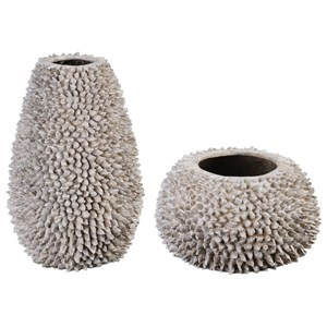 Uttermost Accessories Mollusca Vases (Set of 2)