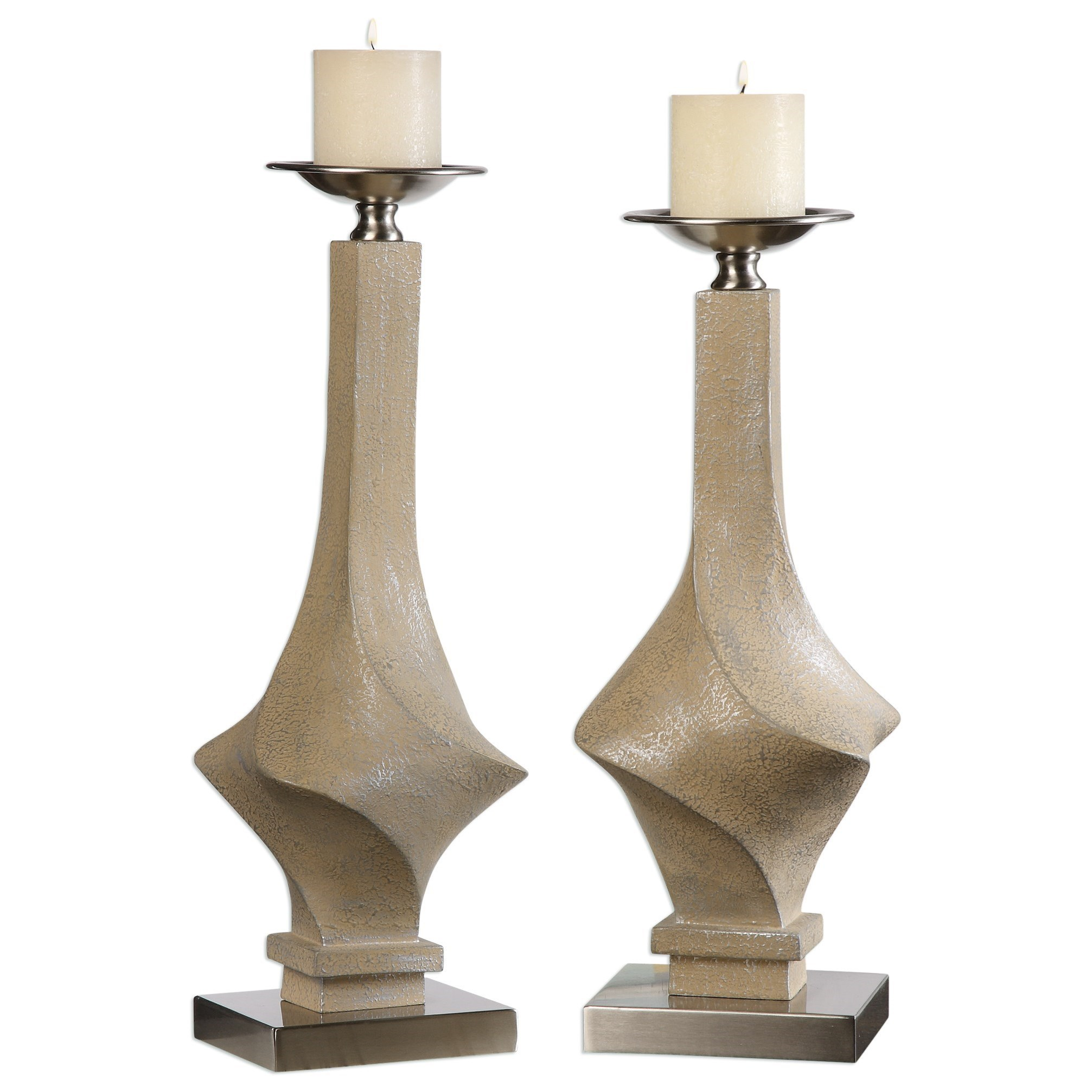 Uttermost Accessories Roseta Candleholders (Set of 2) - Item Number: 20174