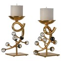 Uttermost Accessories Bede Candleholders (Set of 2) - Item Number: 20183