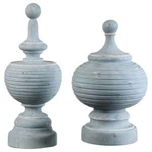 Uttermost Accessories Philippa Finials (Set of 2)