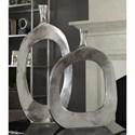 Uttermost Accessories Cierra Aluminum Vases (Set of 2)