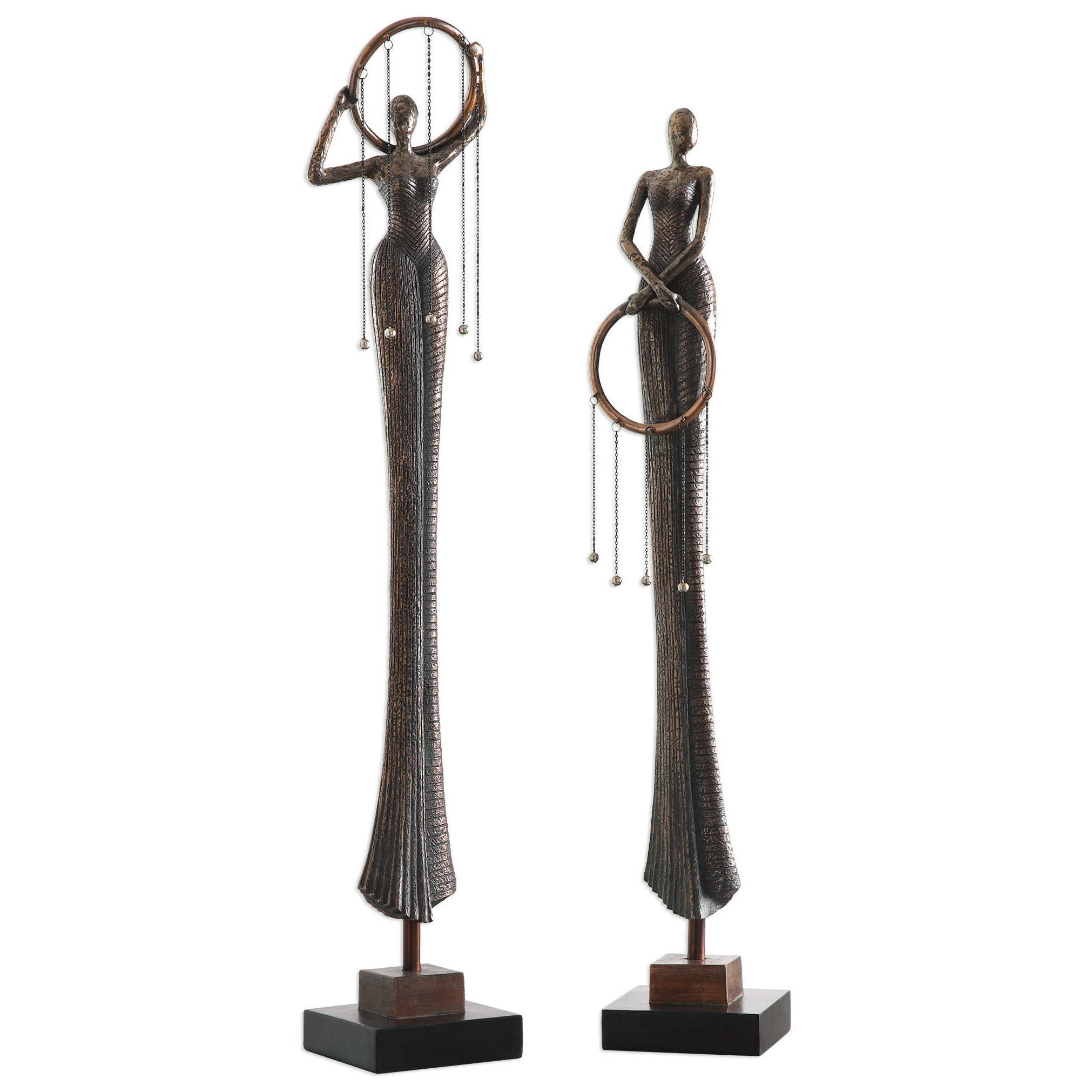 Uttermost Accessories Ring Dance Sculpture (Set of 2) - Item Number: 20194