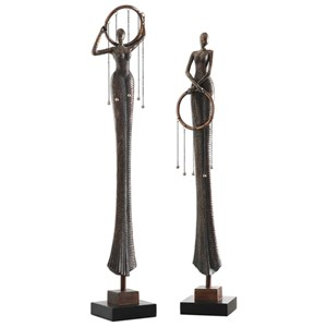 Uttermost Accessories Ring Dance Sculpture (Set of 2)