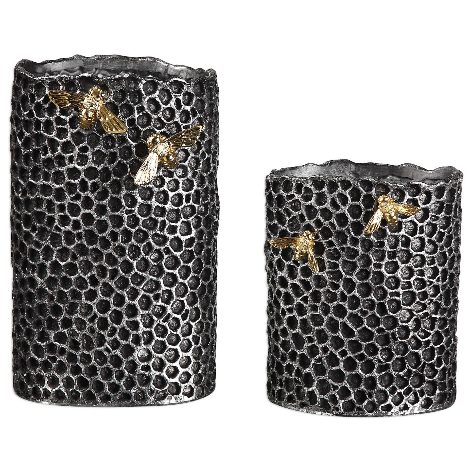 Accessories - Vases and Urns Hive Vases (Set of 2) by Uttermost at Mueller Furniture