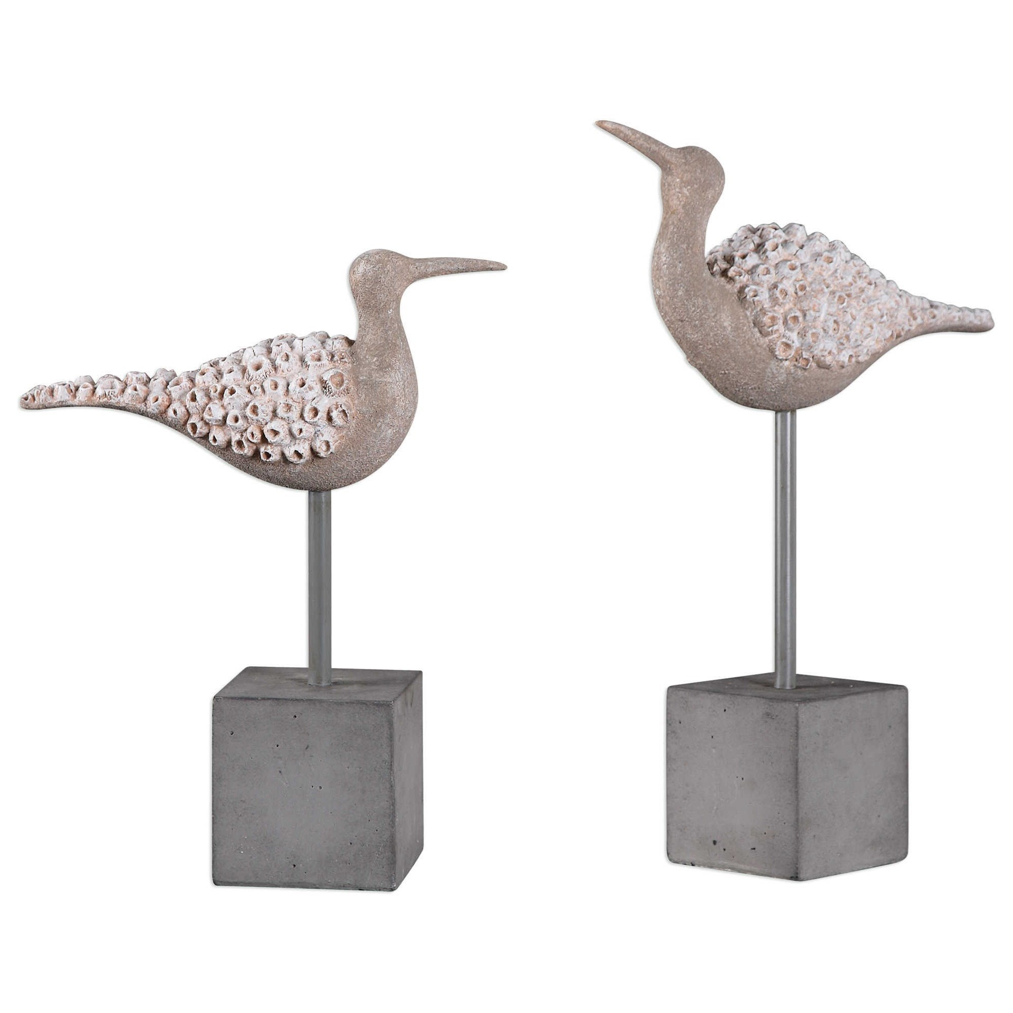 Uttermost Accessories Shore Birds Sculpture (Set of 2) - Item Number: 20216