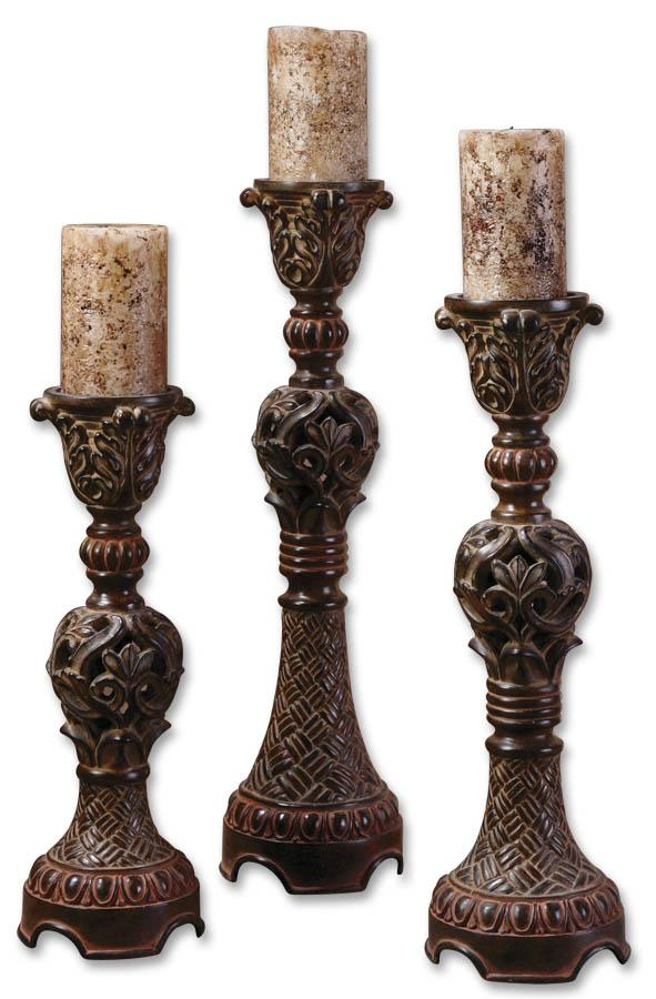 Uttermost Accessories Rosina Candlesticks Set of 3 - Item Number: 20312