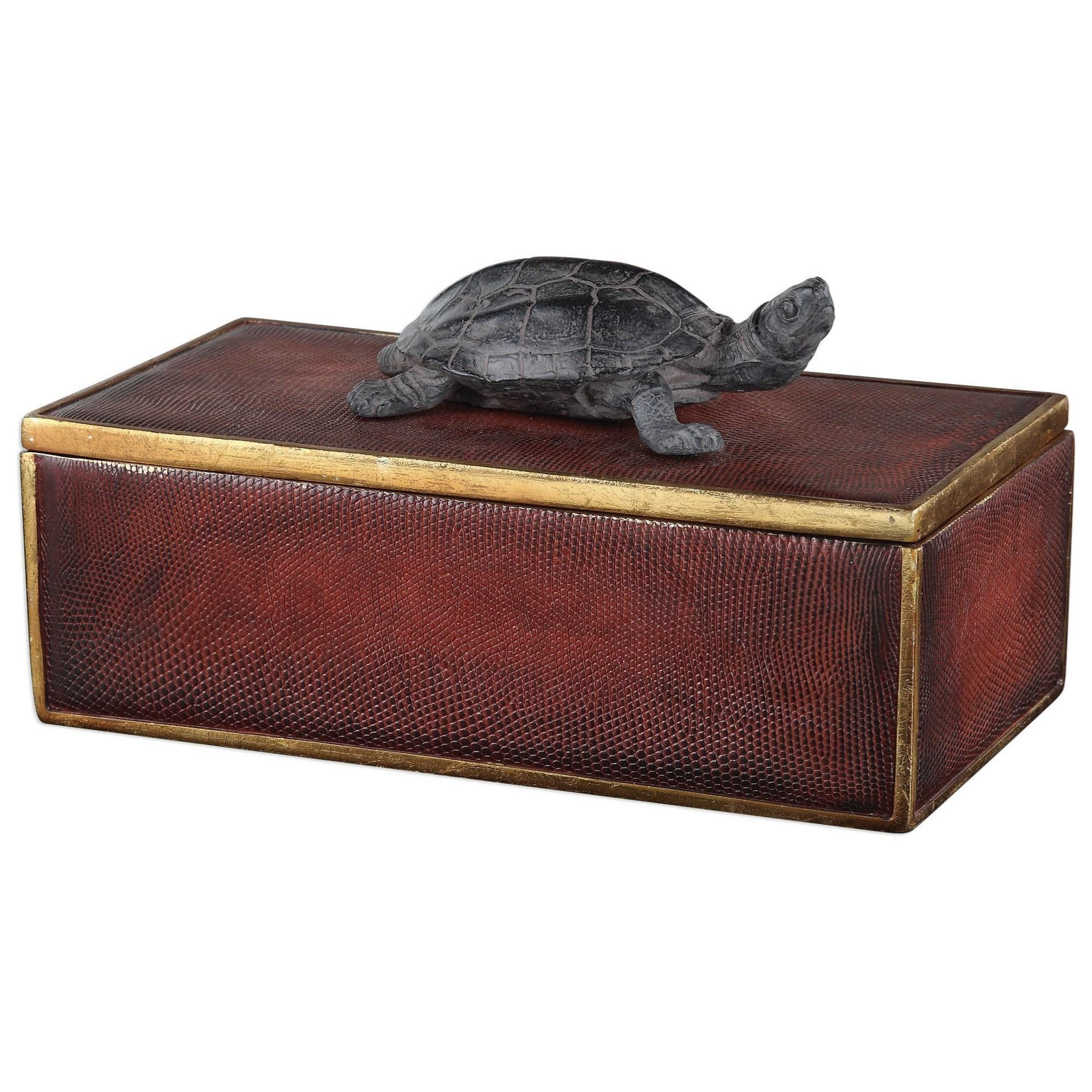Uttermost Accessories Neagan Chestnut Brown Box - Item Number: 20480