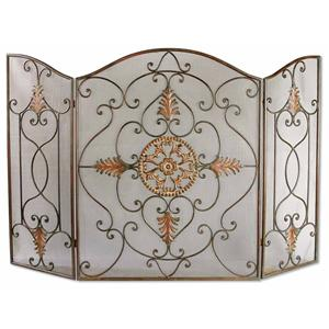 Uttermost Accessories Egan Fireplace Screen