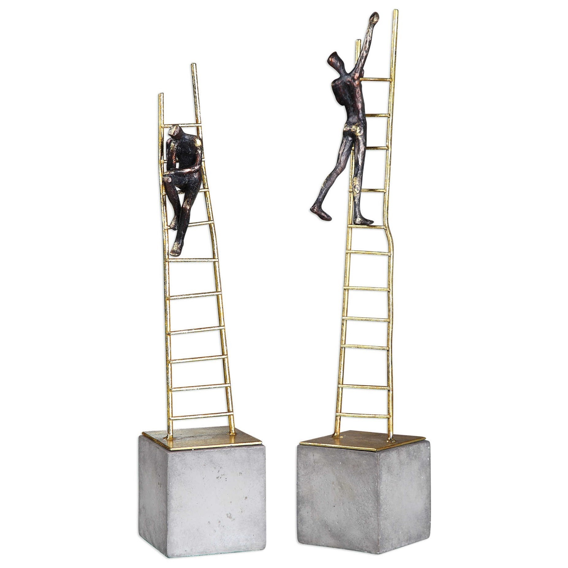 Ladder Climb Sculpture (Set of 2)