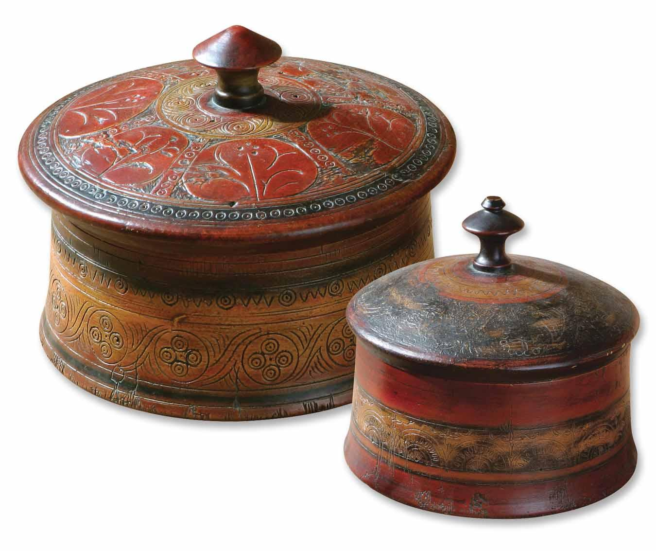 Uttermost Accessories Sherpa Boxes Set of 2 - Item Number: 20800