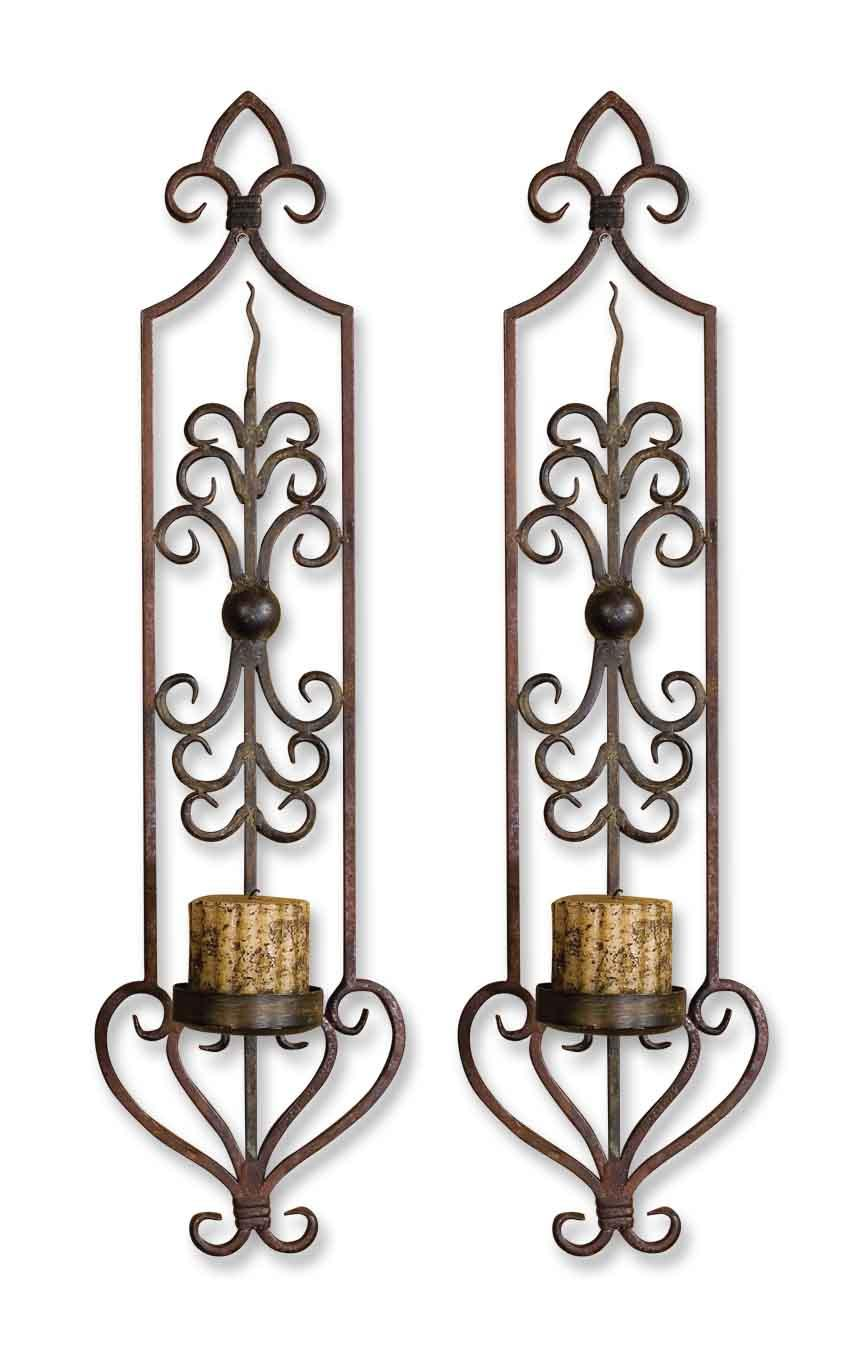 Uttermost Accessories Privas Wall Sconces Set of 2 - Item Number: 20987