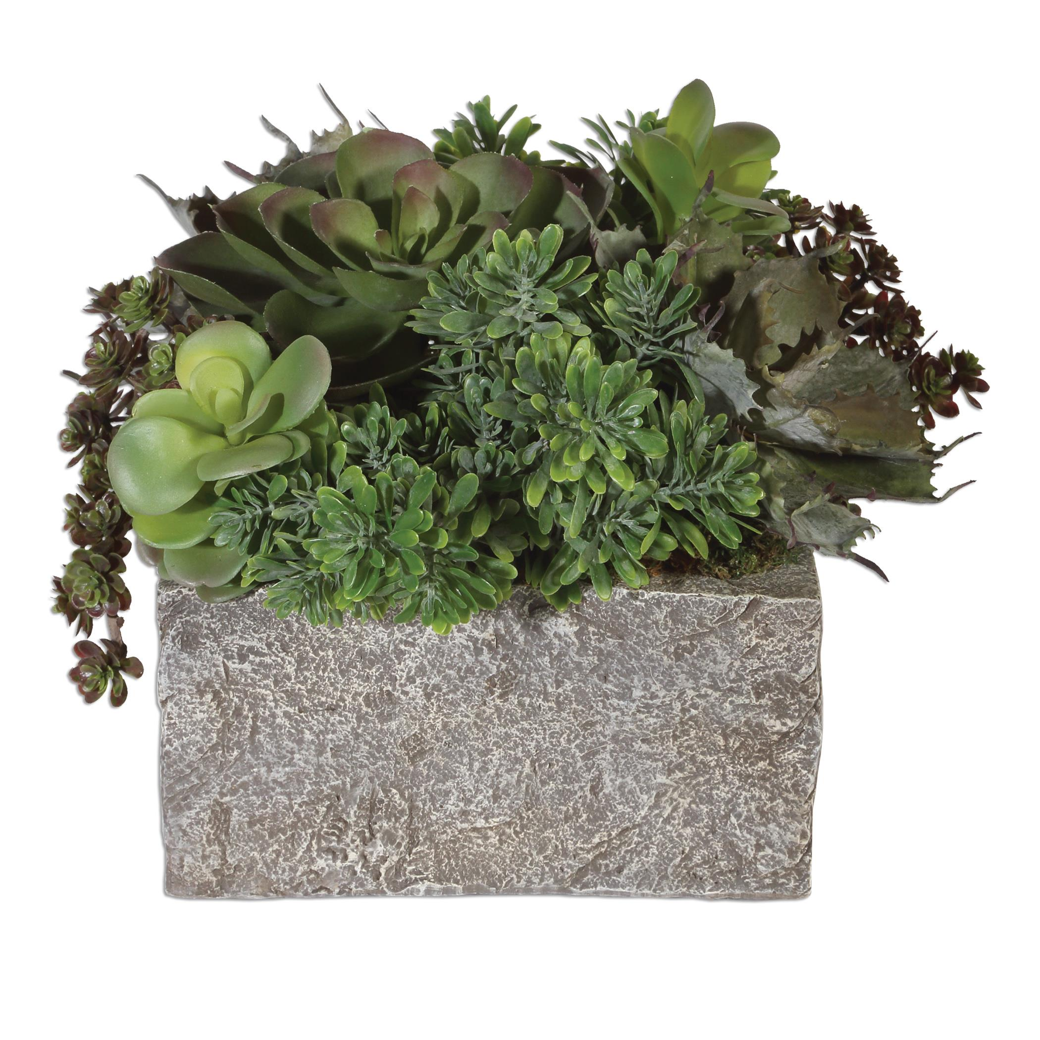 Uttermost Accessories Black Rock Desert Succulents - Item Number: 60117