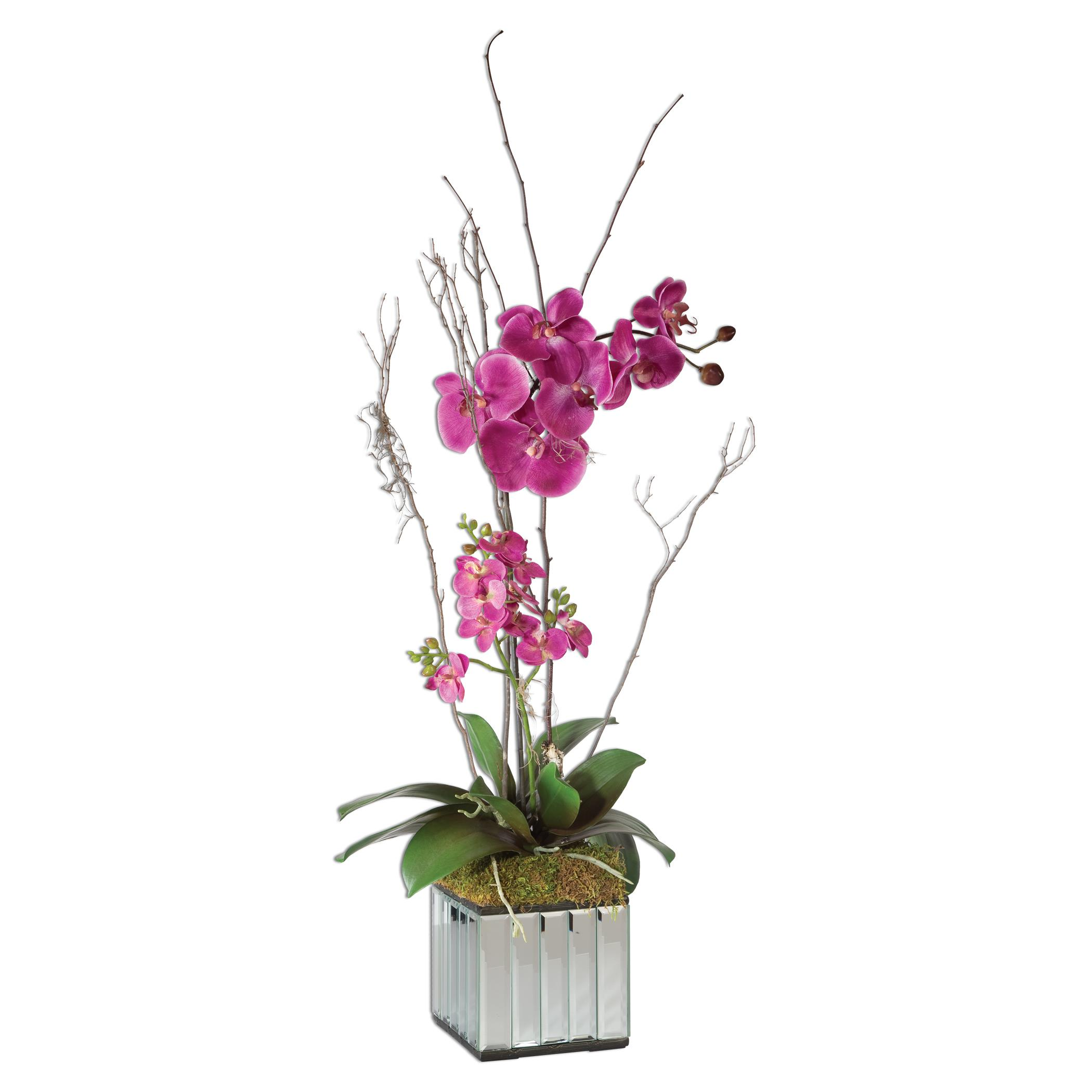Uttermost Accessories Fuchsia Kaleama Orchids - Item Number: 60121