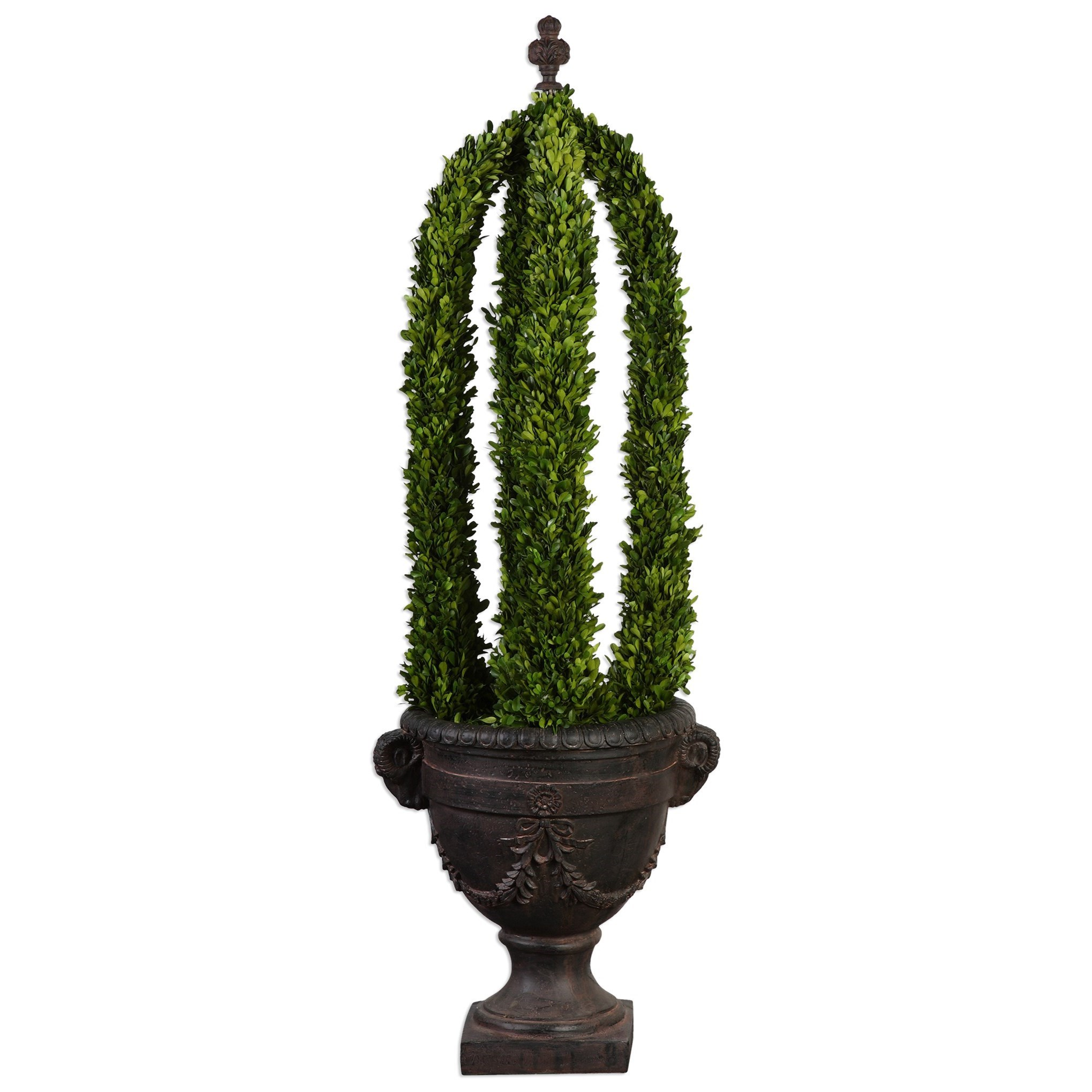 Uttermost Accessories Preserved Boxwood Obelisk Tower - Item Number: 60124