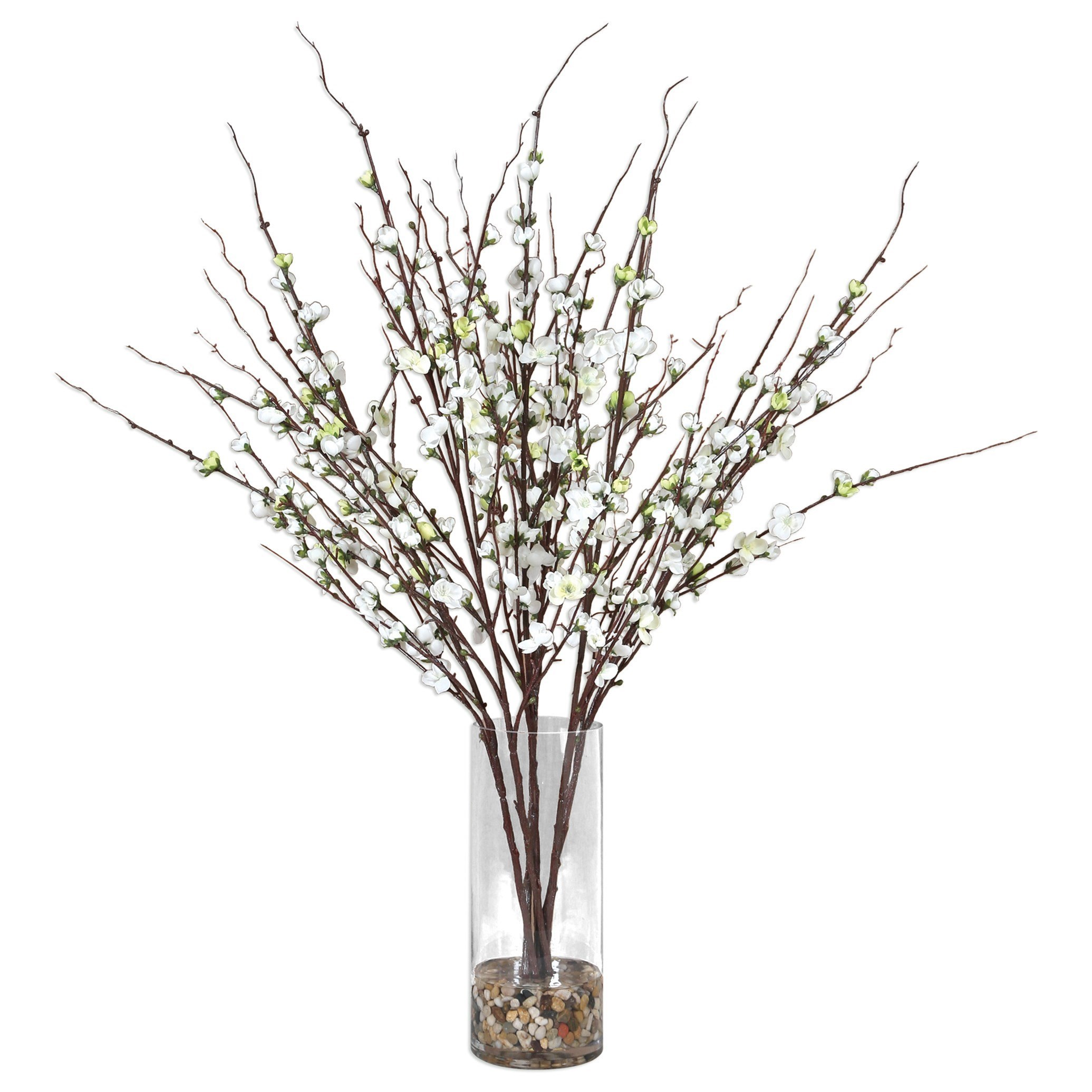 Uttermost Accessories Quince Blossoms Silk Centerpiece - Item Number: 60128