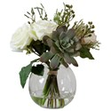 Uttermost Accessories Belmonte Floral Bouquet & Vase - Item Number: 60182
